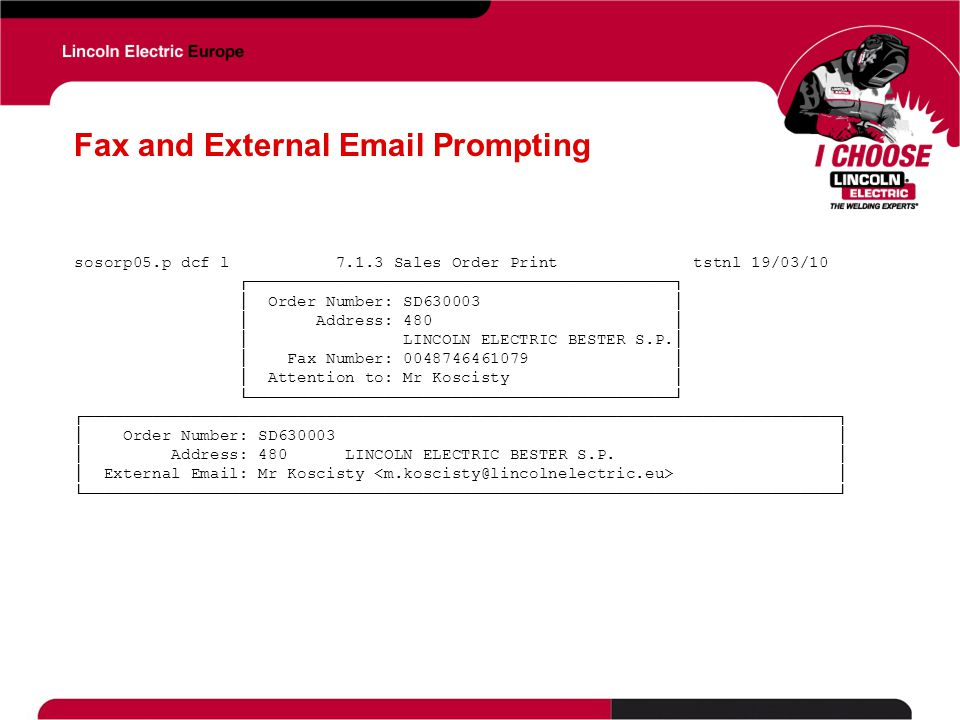 Fax and External Email Prompting