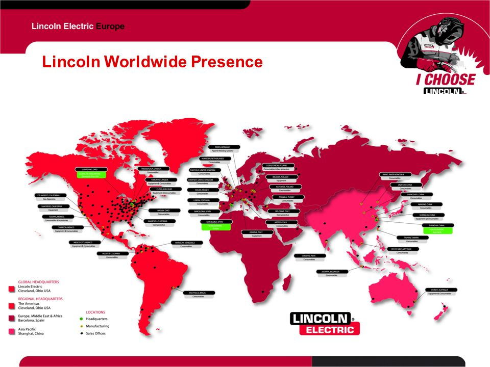 Lincoln Worldwide Presence
