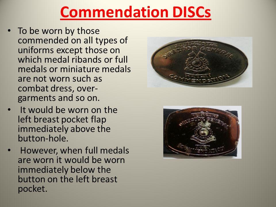 Commendation DISCs
