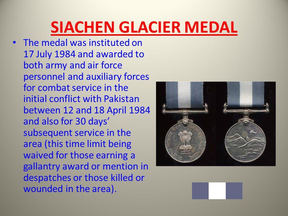 SIACHEN GLACIER MEDAL