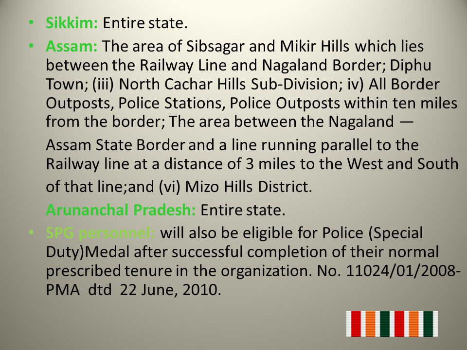 Sikkim: Entire state.