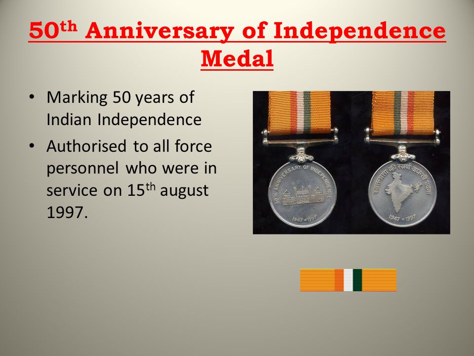 50th Anniversary of Independence Medal