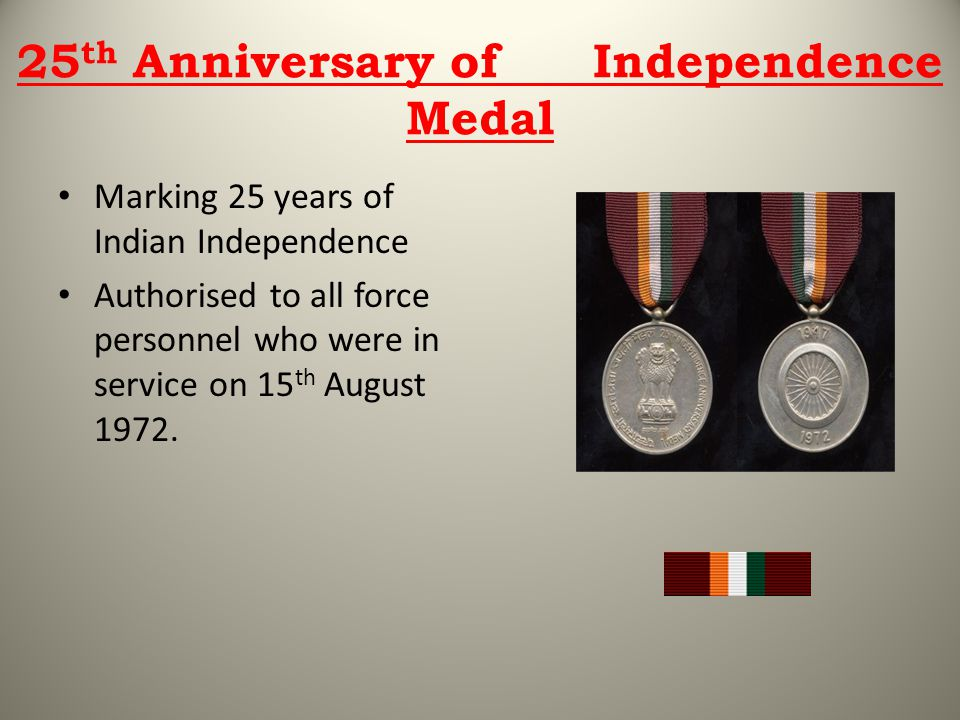 25th Anniversary of Independence Medal
