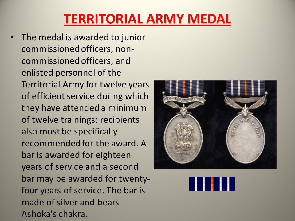 TERRITORIAL ARMY MEDAL