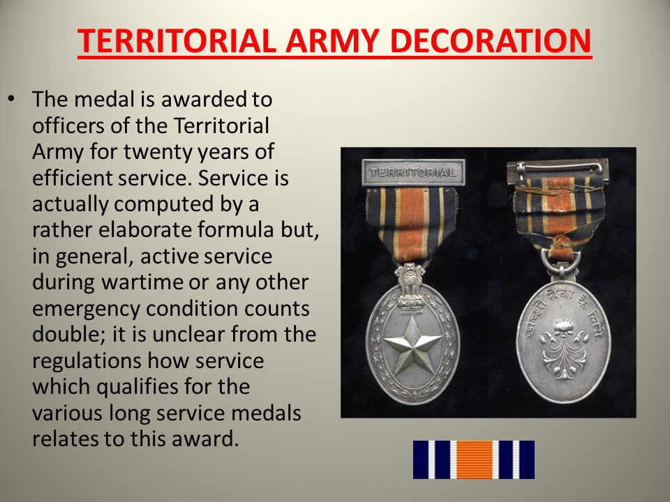 TERRITORIAL ARMY DECORATION
