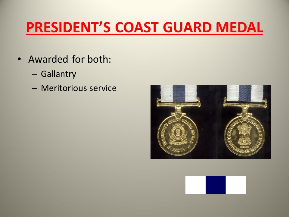 PRESIDENT'S COAST GUARD MEDAL