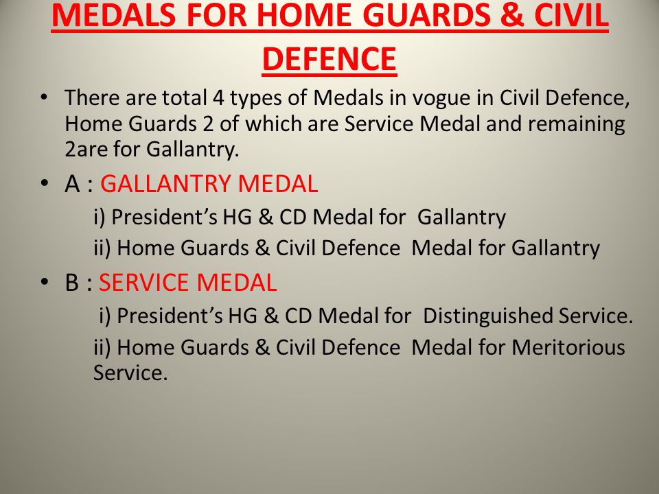 MEDALS FOR HOME GUARDS & CIVIL DEFENCE