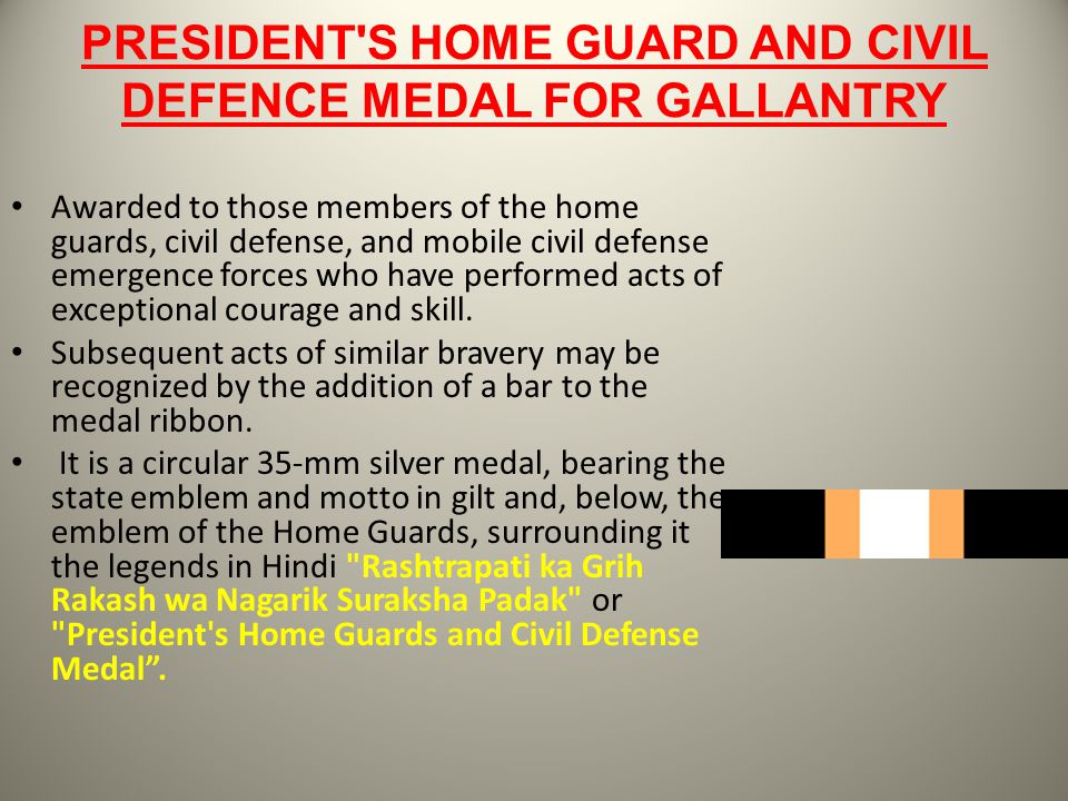 PRESIDENT S HOME GUARD AND CIVIL DEFENCE MEDAL FOR GALLANTRY
