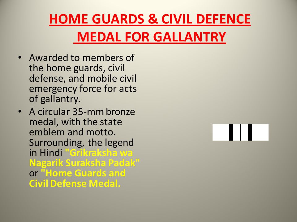 HOME GUARDS & CIVIL DEFENCE MEDAL FOR GALLANTRY