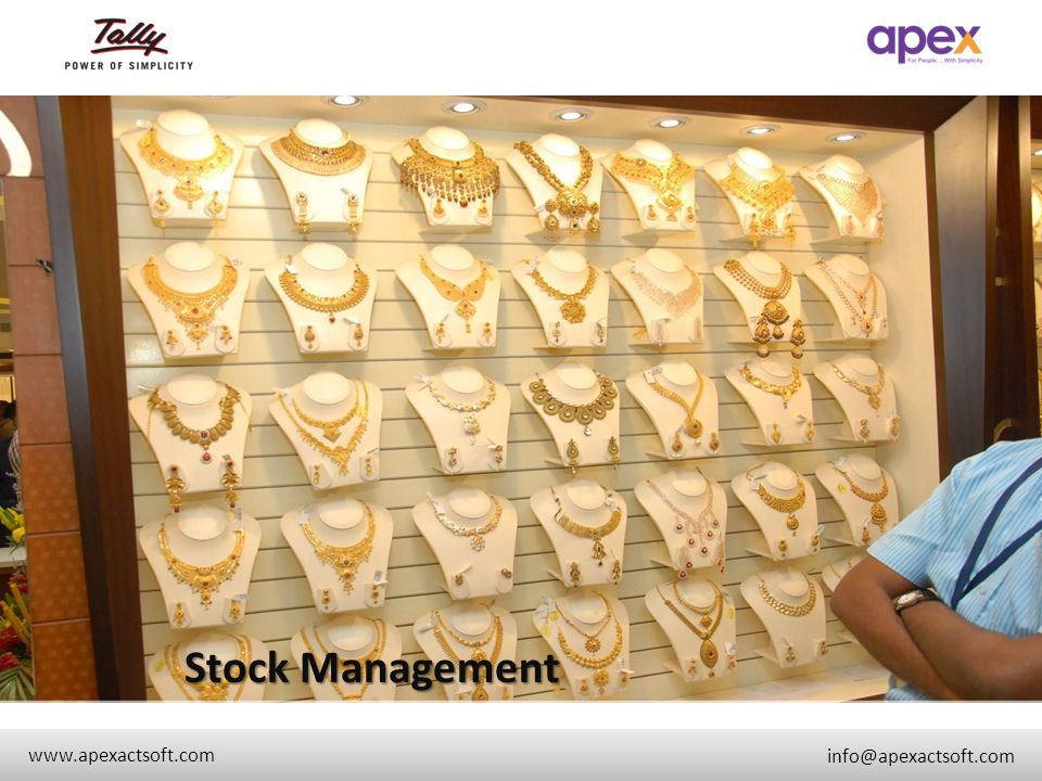 Stock Management + www.apexactsoft.com info@apexactsoft.com