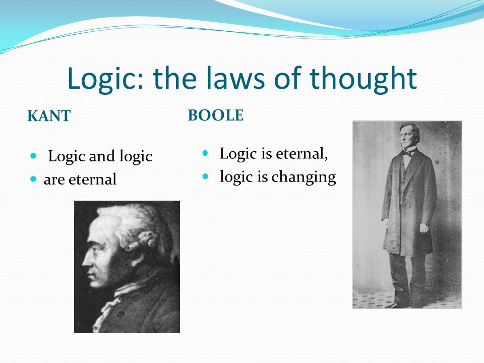 Logic: the laws of thought