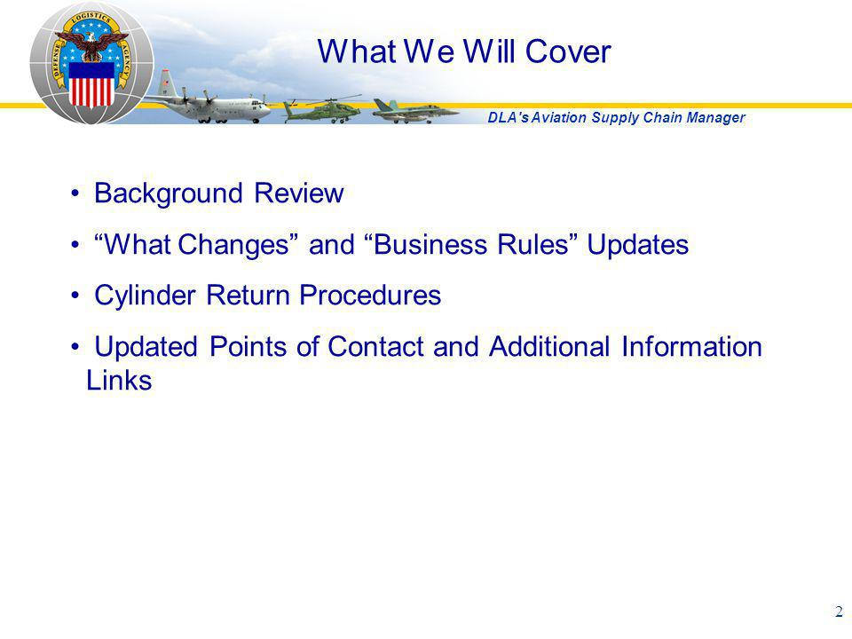 What We Will Cover Background Review