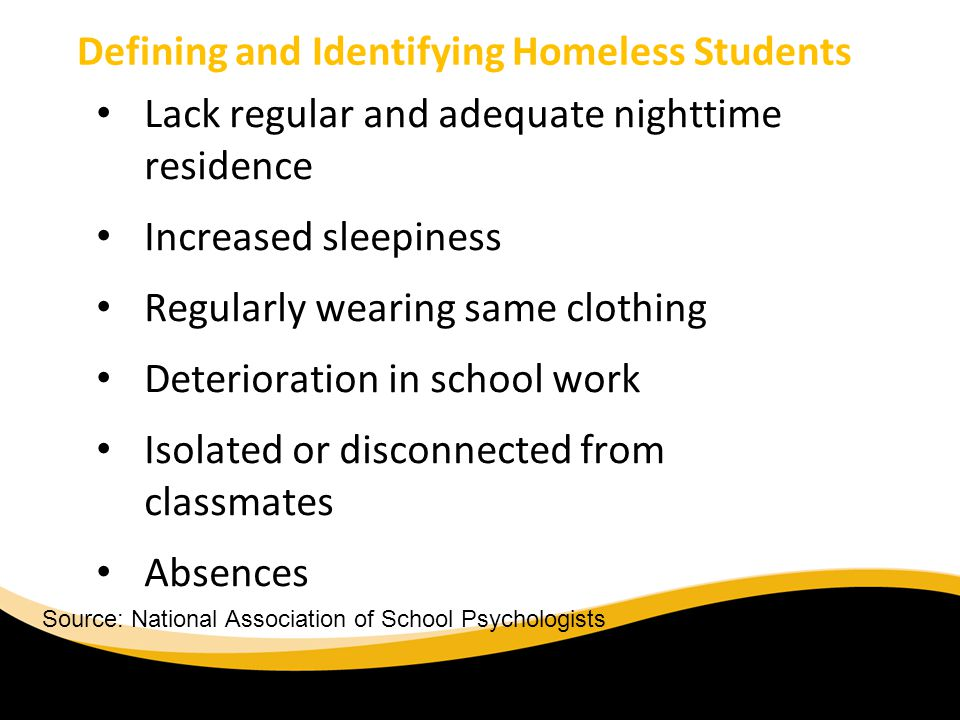 Defining and Identifying Homeless Students
