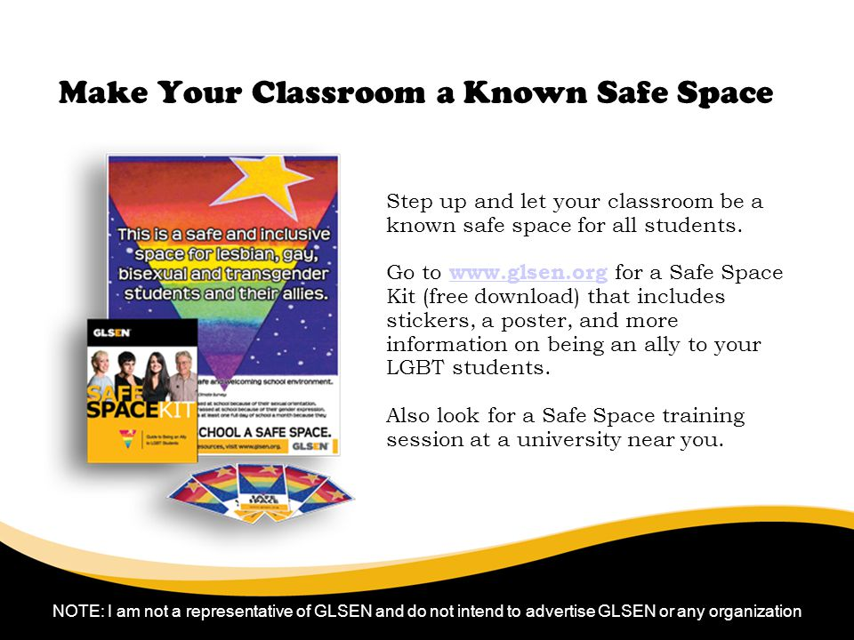 Make Your Classroom a Known Safe Space