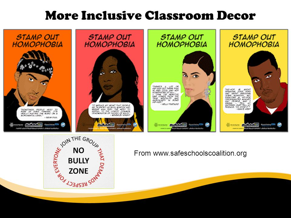 More Inclusive Classroom Decor