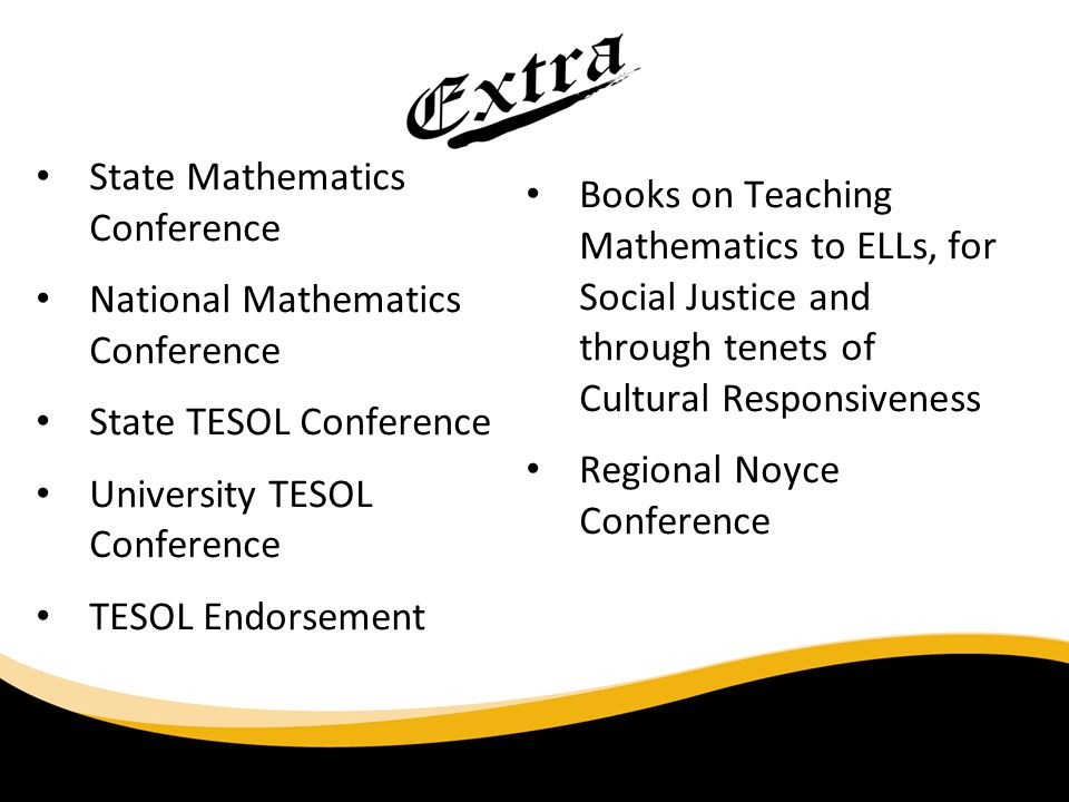 State Mathematics Conference National Mathematics Conference