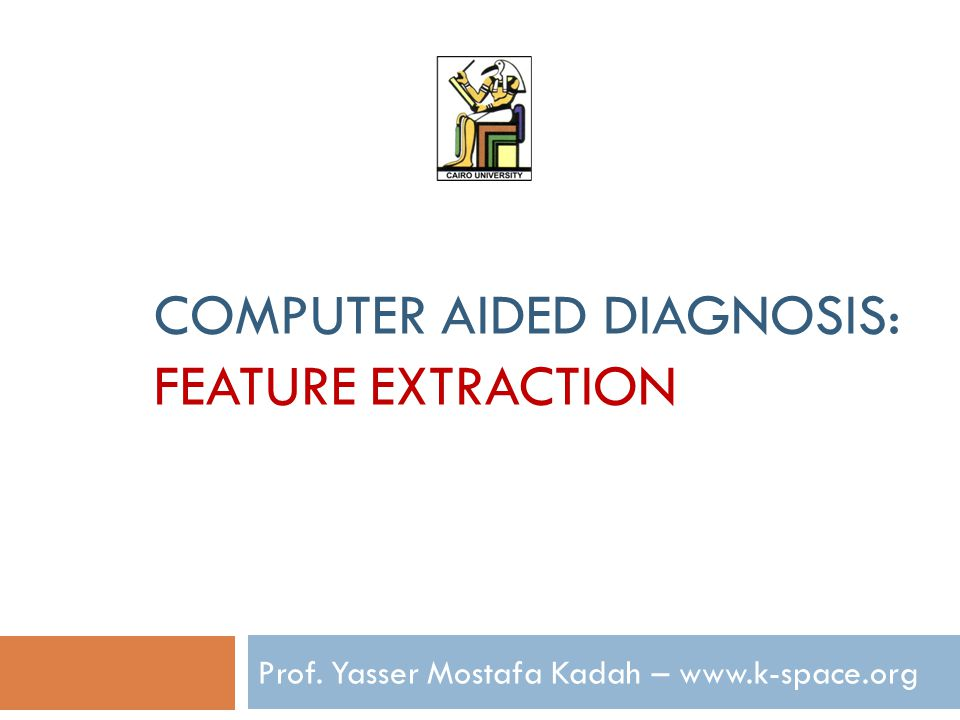 Computer Aided Diagnosis: Feature Extraction