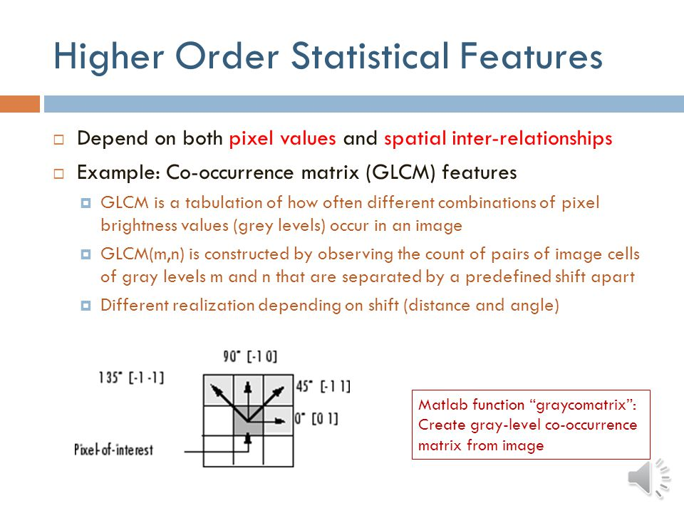 Higher Order Statistical Features