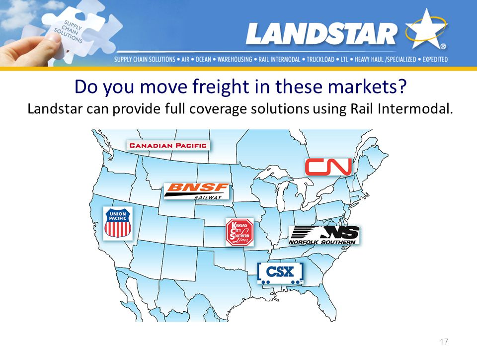 Do you move freight in these markets