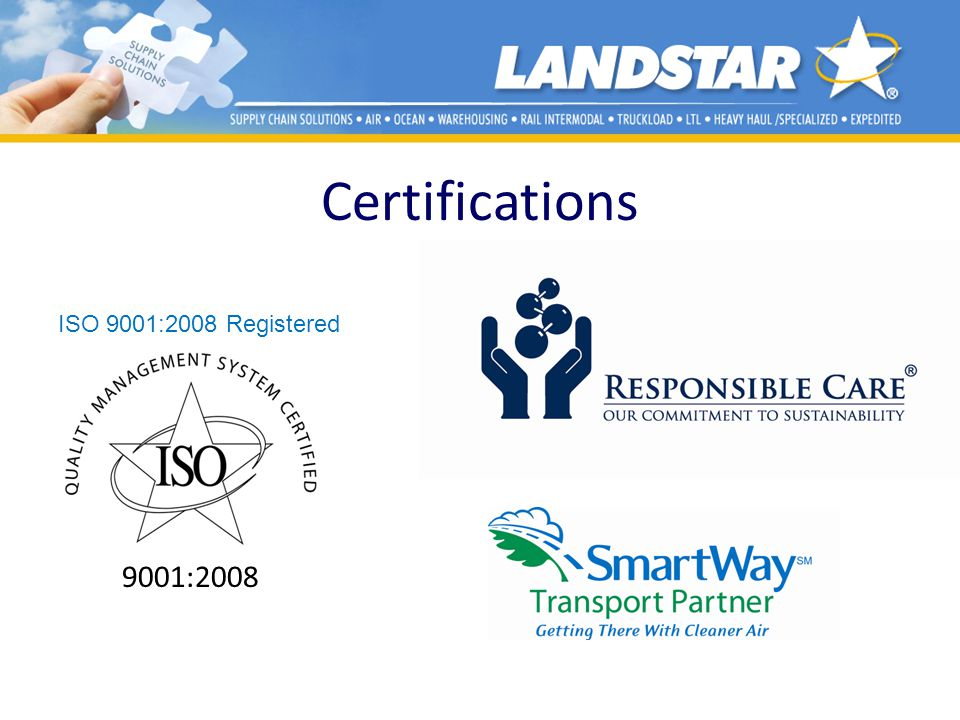 Certifications 9001:2008 ISO 9001:2008 Registered