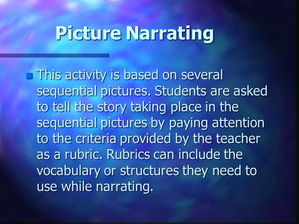 Picture Narrating