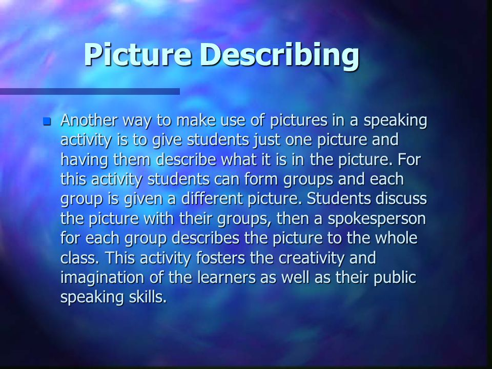 Picture Describing