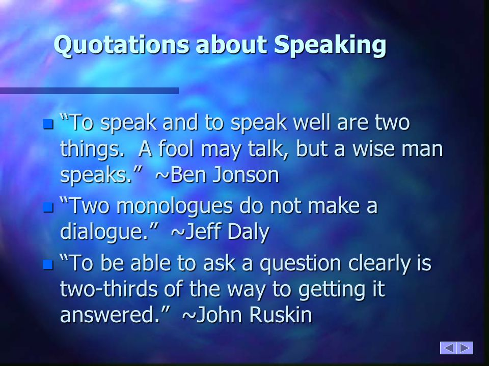 Quotations about Speaking