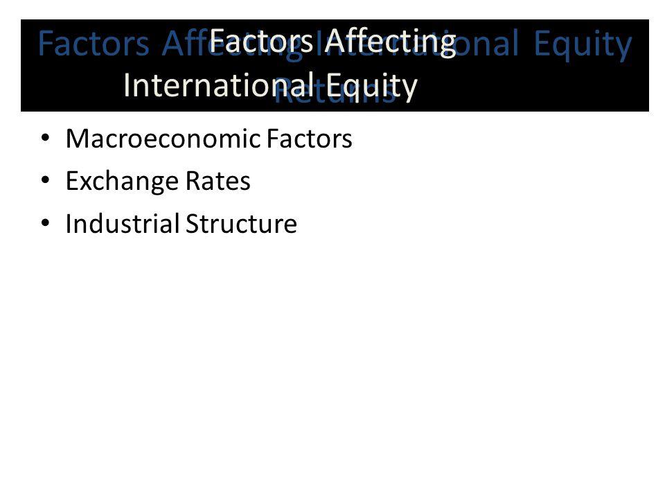 Factors Affecting International Equity Returns
