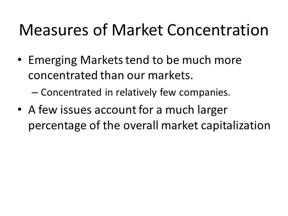 Measures of Market Concentration