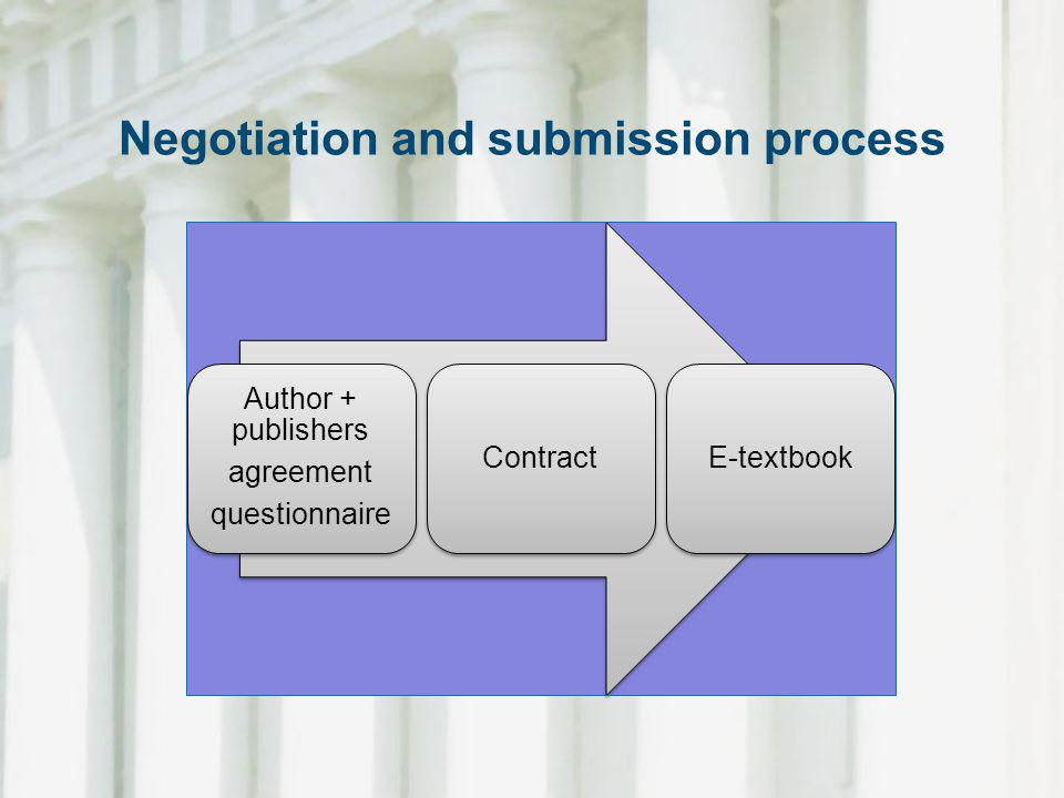 Negotiation and submission process