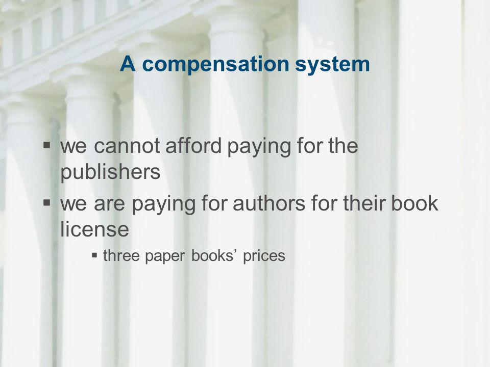 we cannot afford paying for the publishers