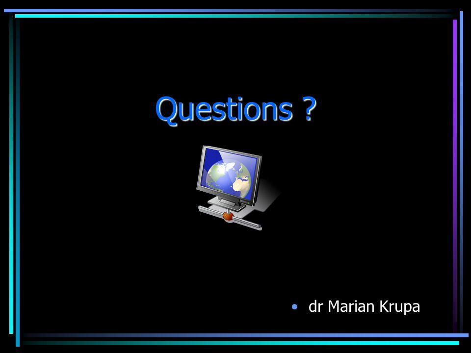Questions dr Marian Krupa