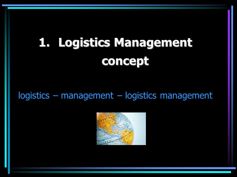Logistics Management concept