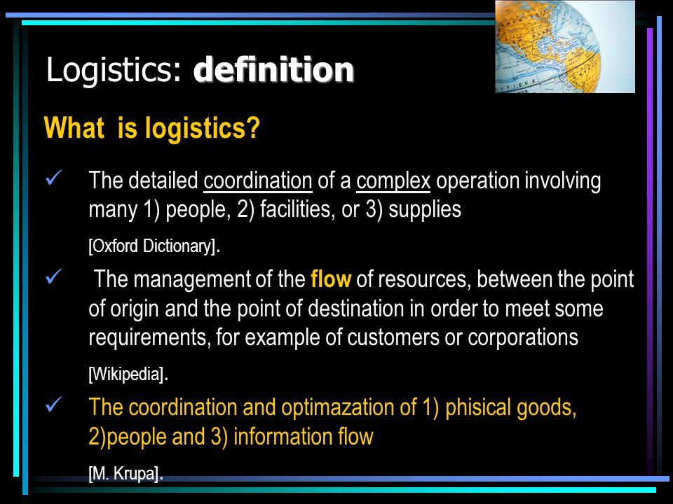 Logistics: definition
