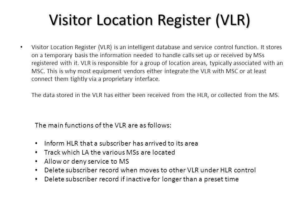 Visitor Location Register (VLR)