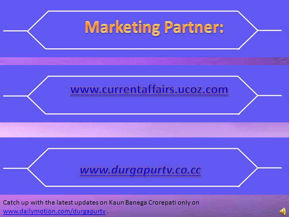 Marketing Partner: www.currentaffairs.ucoz.com www.durgapurtv.co.cc