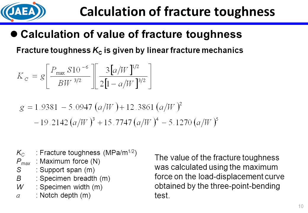Calculation of fracture toughness