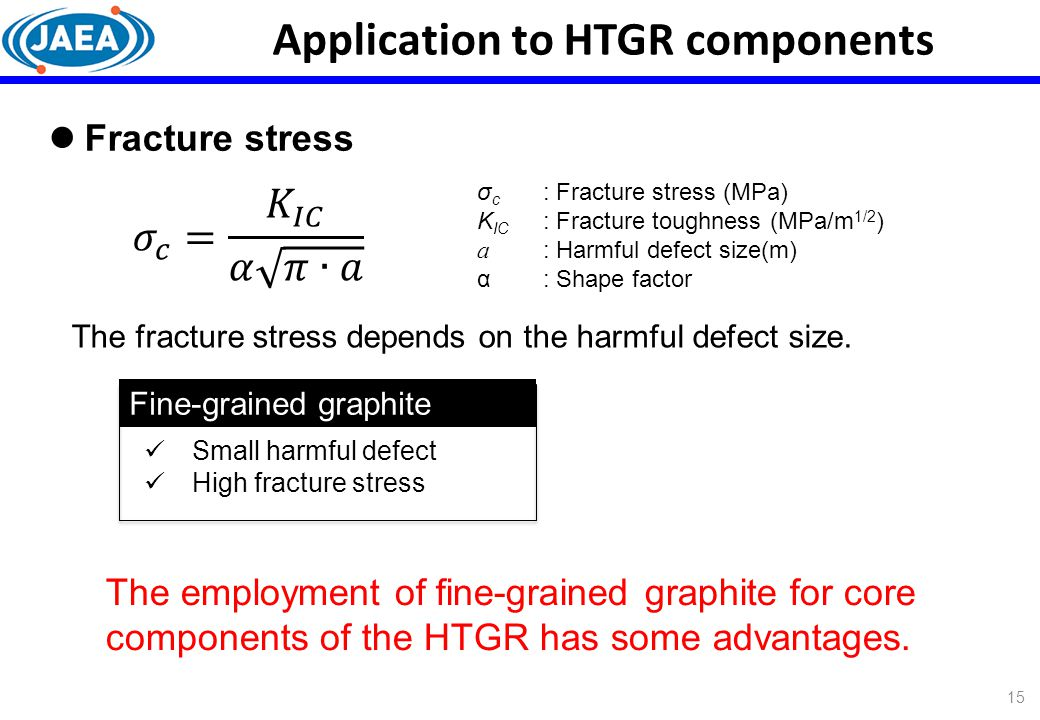 Application to HTGR components