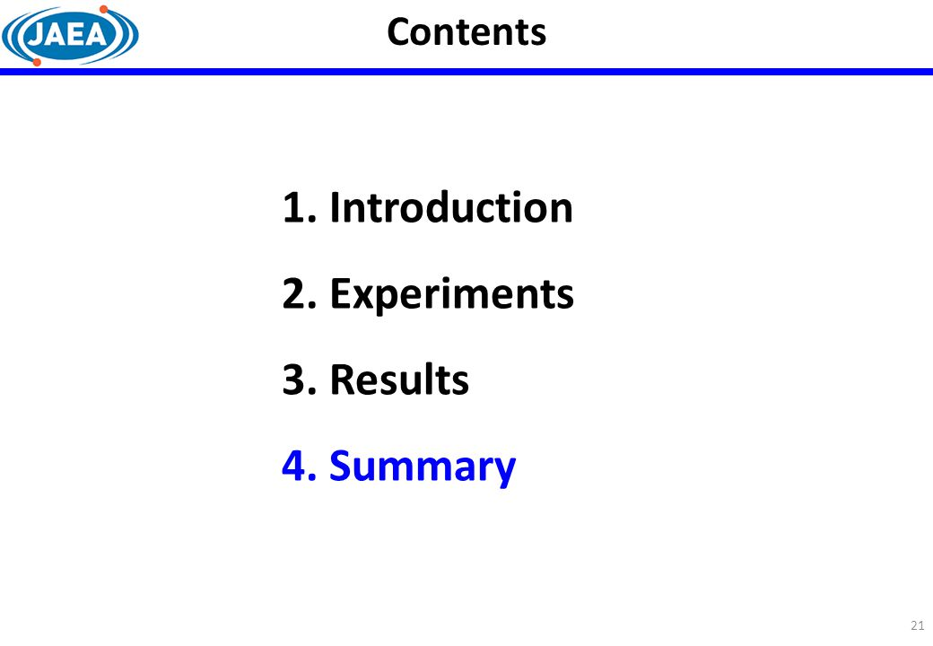 Contents Introduction Experiments Results Summary