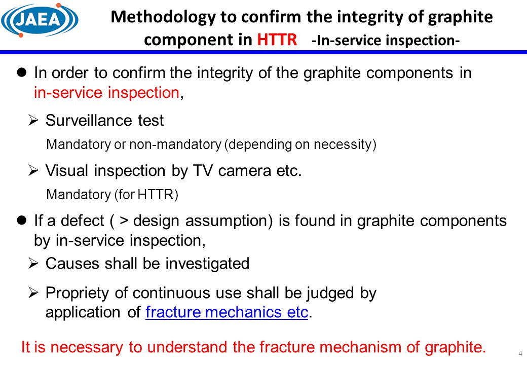 Methodology to confirm the integrity of graphite component in HTTR -In-service inspection-