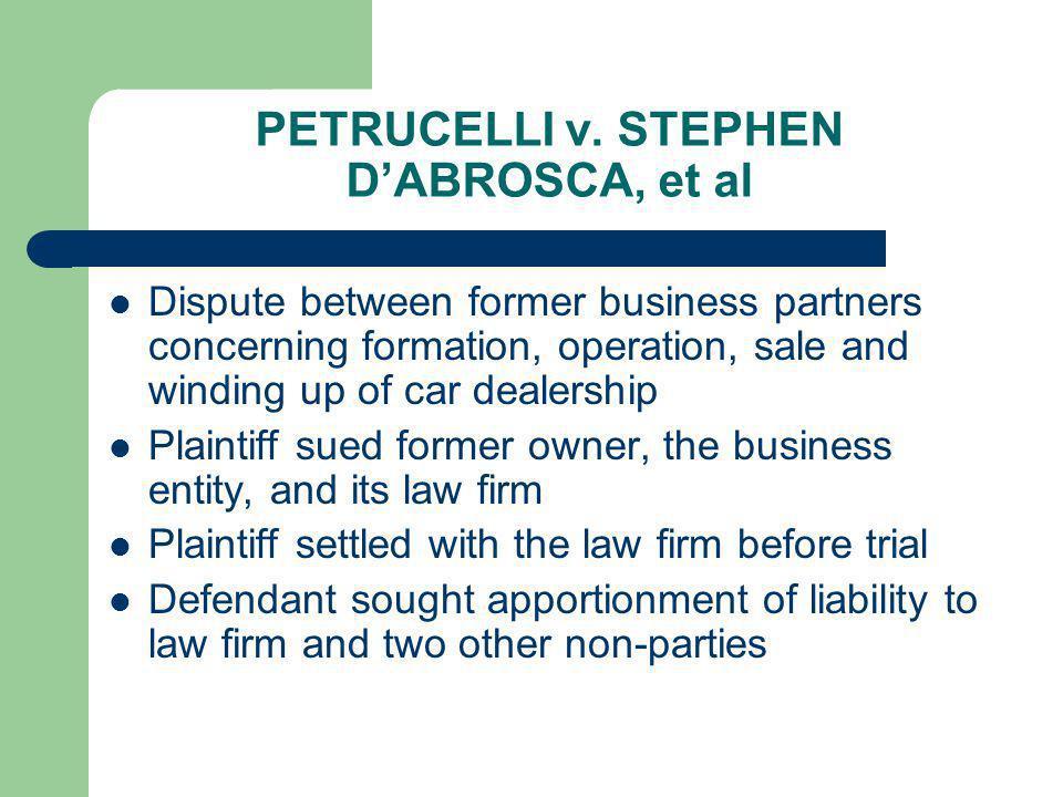 PETRUCELLI v. STEPHEN D'ABROSCA, et al