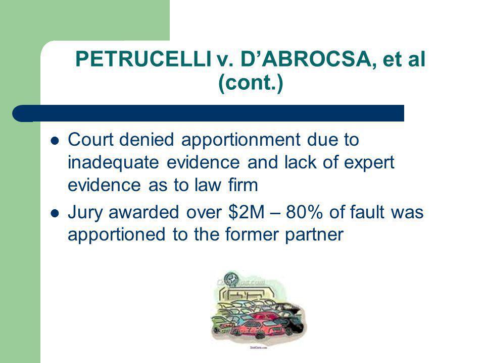 PETRUCELLI v. D'ABROCSA, et al (cont.)