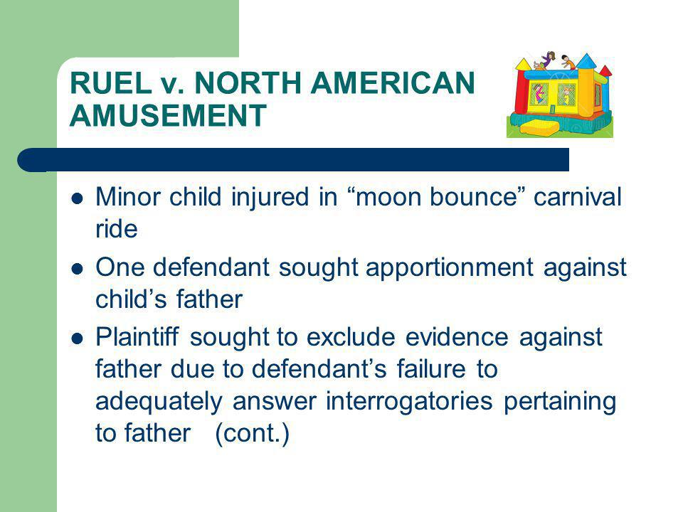 RUEL v. NORTH AMERICAN AMUSEMENT