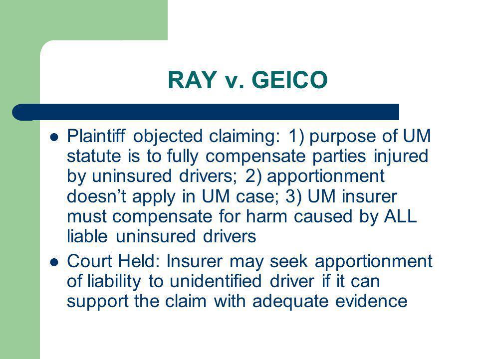 RAY v. GEICO