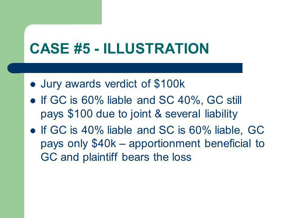 CASE #5 - ILLUSTRATION Jury awards verdict of $100k