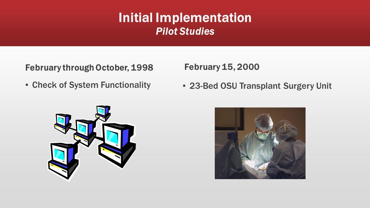 Initial Implementation Pilot Studies