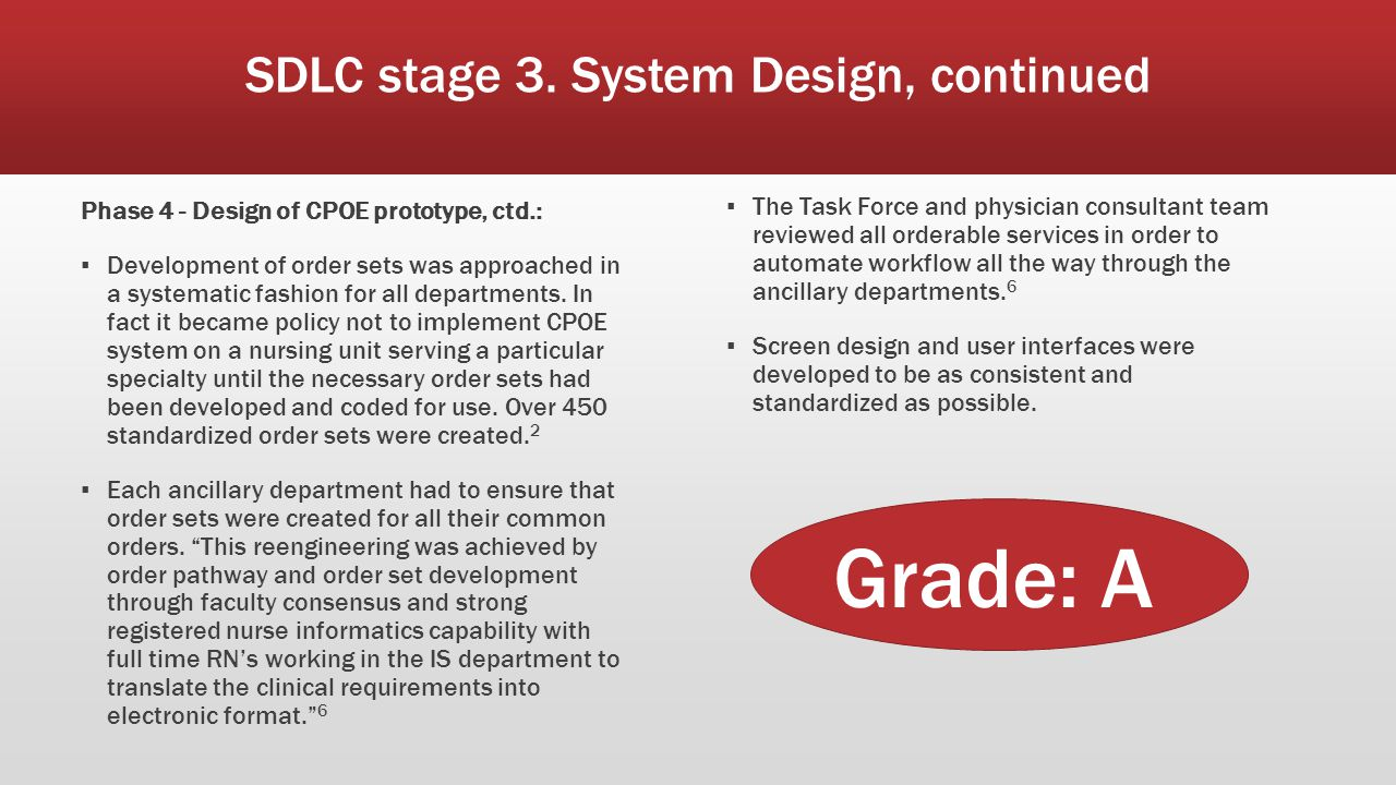 SDLC stage 3. System Design, continued