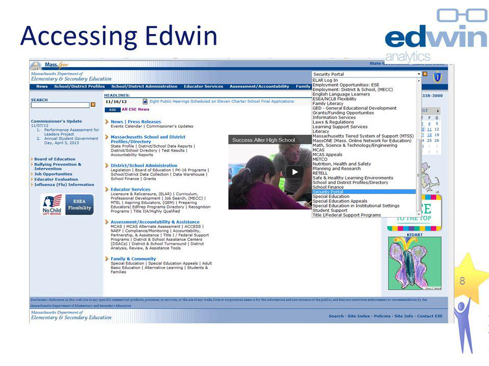 Accessing Edwin
