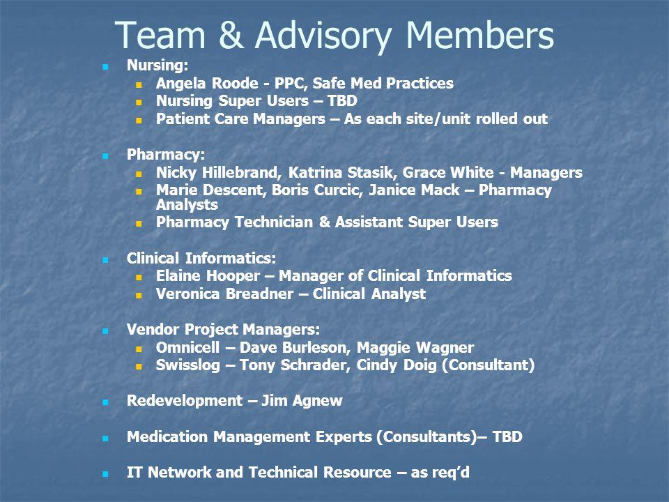 Team & Advisory Members