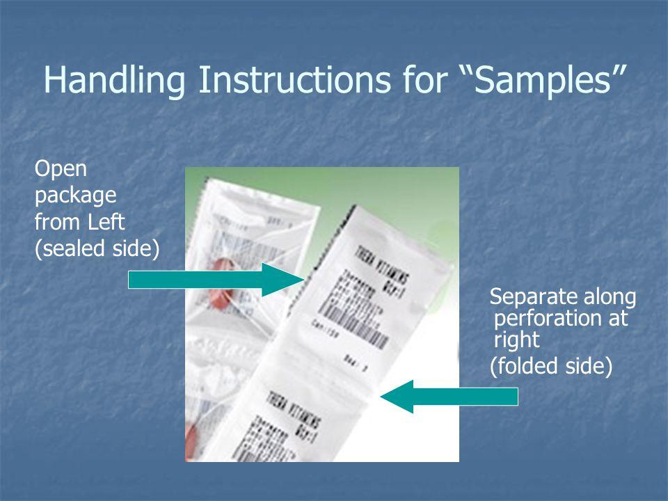 Handling Instructions for Samples